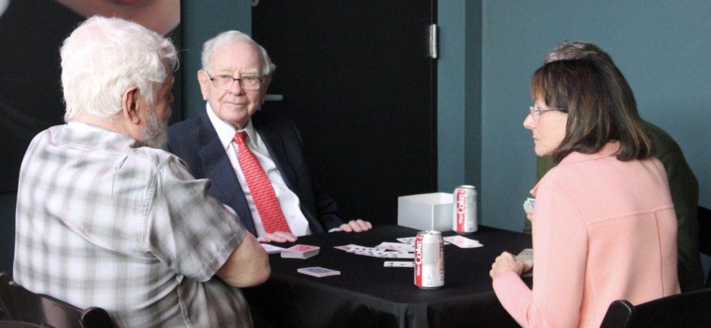 Warren Buffett in a meeting